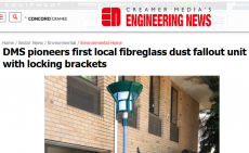 Fibreglass Dust Fall-out units